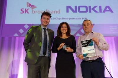 Best consumer 10Gbps service based on next-generation PON. WINNER: Nokia & SKB South Korea