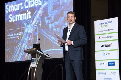 smart cities summit speaker stage