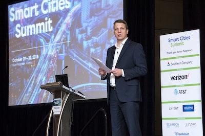smart cities summit speaker stage