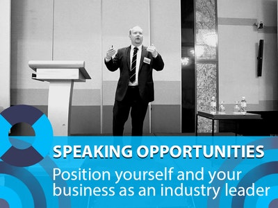 Speaking opportunities: position yourself and your business as an industry leader