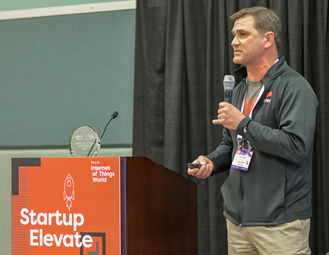 Pitching on the Startup Elevate stage