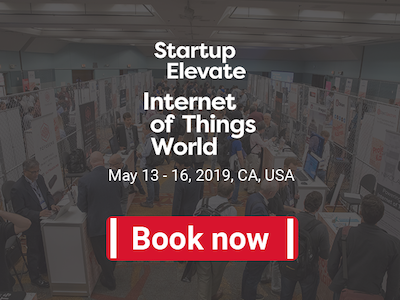 Startup Elevate at IoT World booking page
