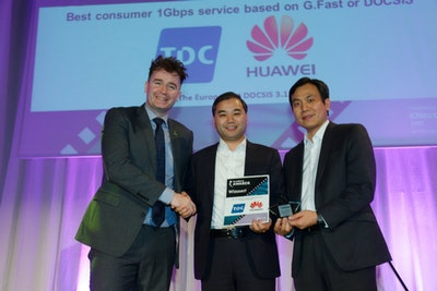 Best consumer 1Gbps service based on G.Fast or DOCSIS 3.1. WINNER: TDC & Huawei