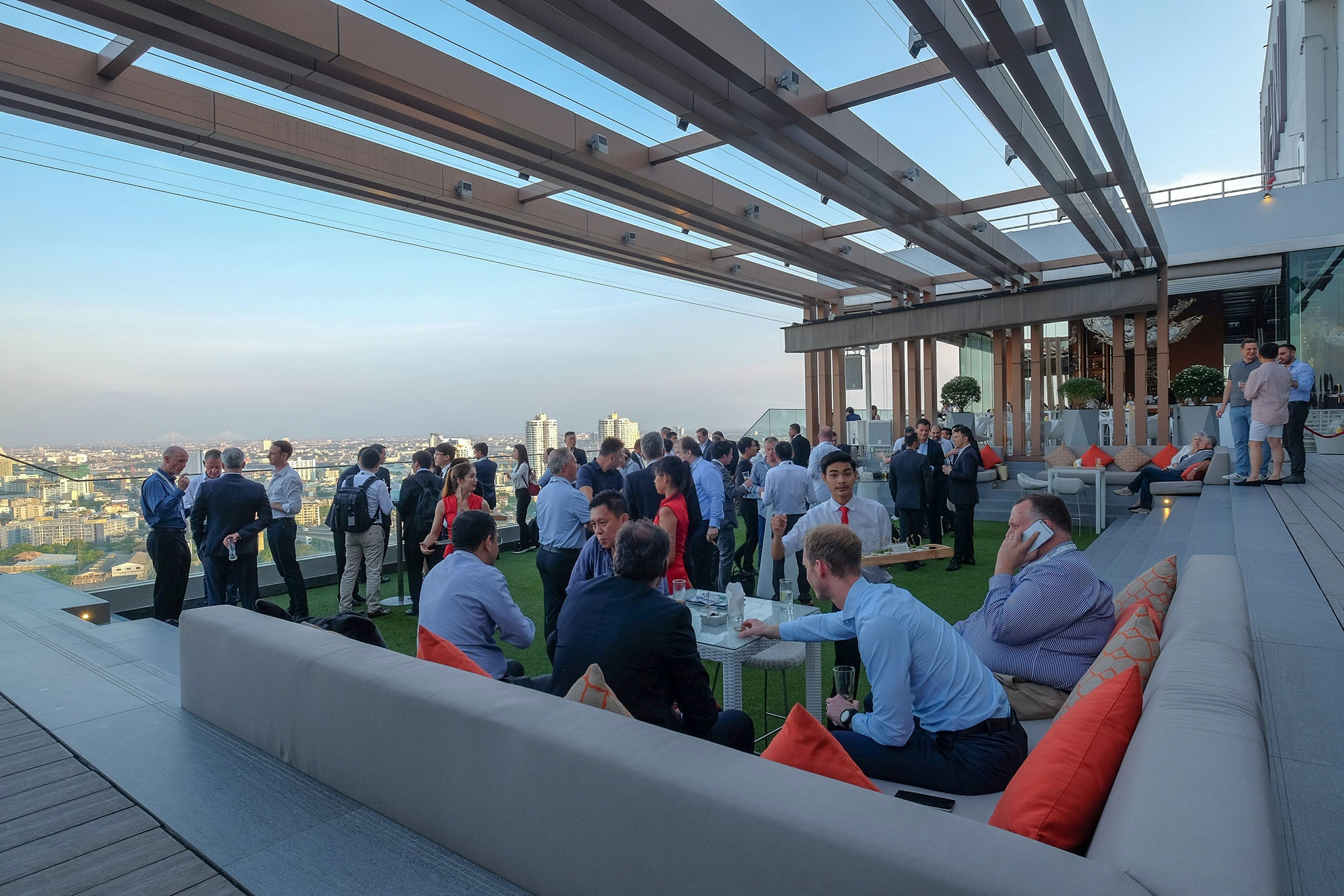 Rooftop networking party at Video Exchange Asia