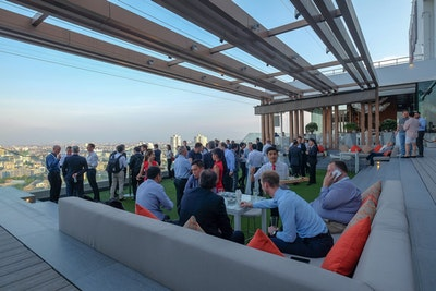 Rooftop party at Video Exchange Asia
