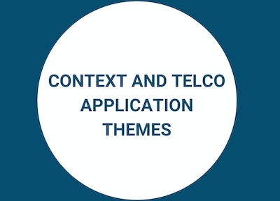 Themes Explored at Telco Blockchain Forum, context and application themes