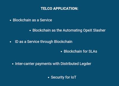 Themes Explored at Telco Blockchain Forum, telco application, SERVICE, AuTOMATING  OPEX SLASHER, SLAs, IoT