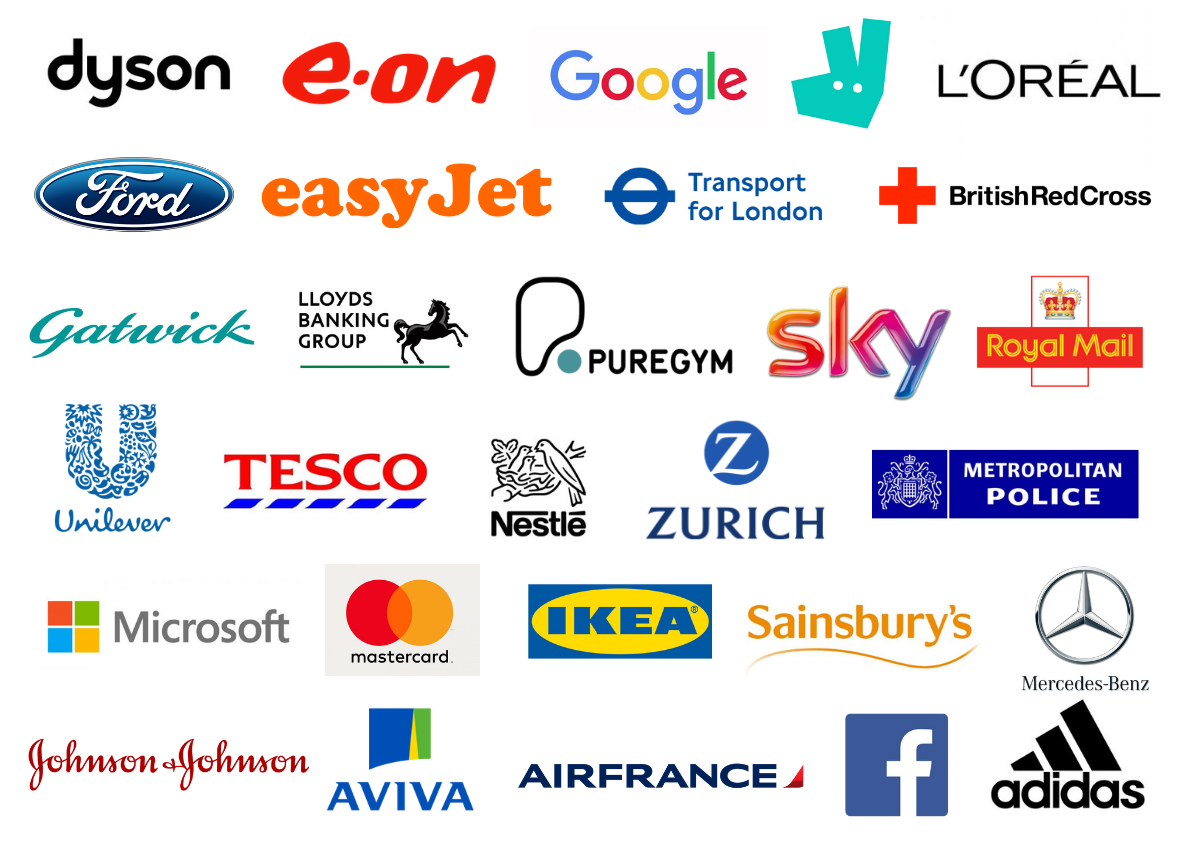 Previous TechXLR8 attendees included Dyson, Sky, Metropolitan Police, Transport for London, Adidas and more!