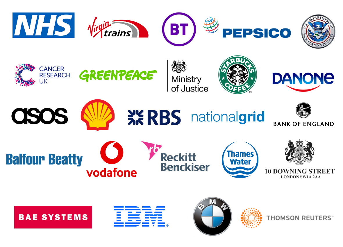 Previous TechXLR8 attendees included NHS, Shell, IBM, Thames Water, Pepsico and more!