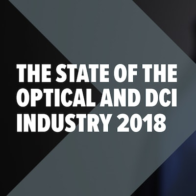 'The State of the Optical and DCI Industry 2018' report cover, click on the image to download it