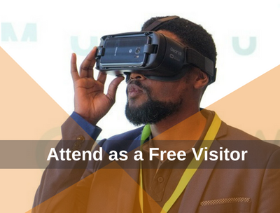 A free exhibition visitor at AfricaCom