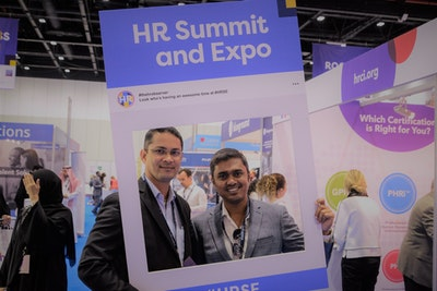 Speed networking at middle east's largets HR event featuring 5000+ connections