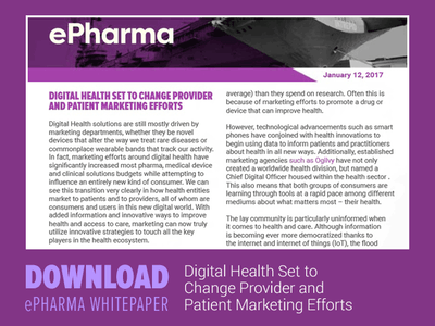 "Download: ""Digital Health Set to Change Provider and Patient Marketing Efforts"" whitepaper"