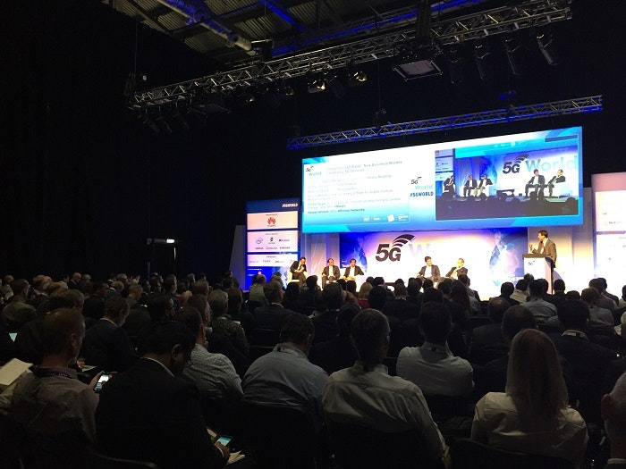 Keynote stage at 5G World