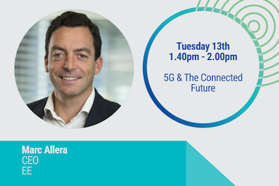 Marc Allera CEO EE, Session title: 5G & The Connected Future, 1.40-2.00PM, 13th June 2017