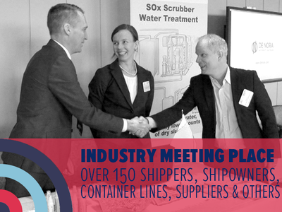 industry meeting place: over 150 shipowners, shipowners, container lines, suppliers & others