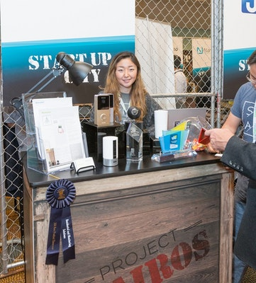 Startup booth in Startup City