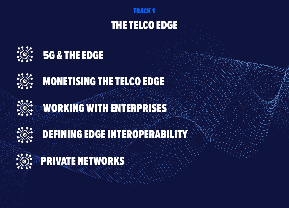 5g & the edge, monetising the telco edge, working with enterprises, defining edge interoperability, private networks